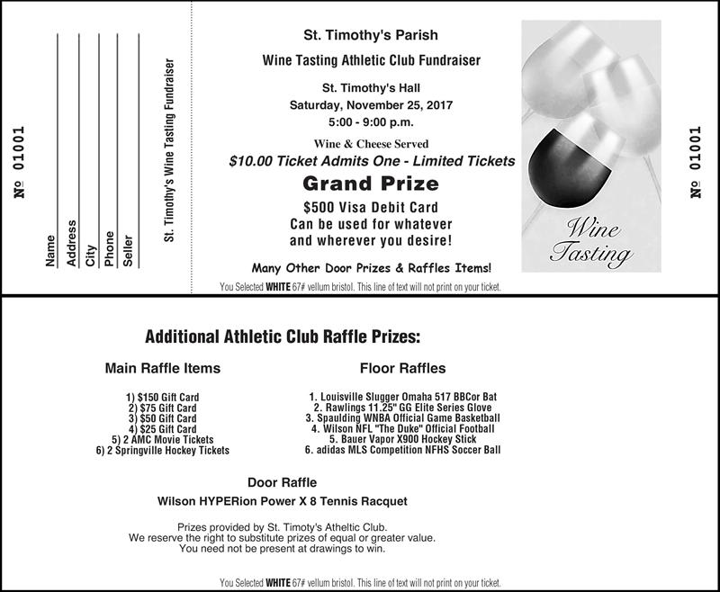 raffle items for fundraiser
