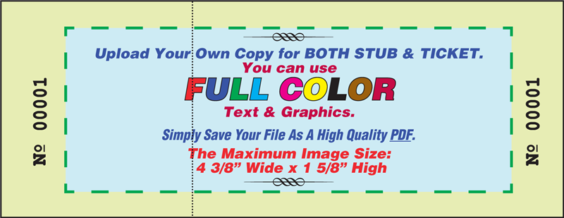 raffle tickets color custom artwork stub tckt