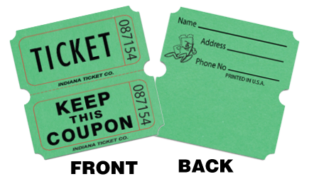 personalized ticket rolls